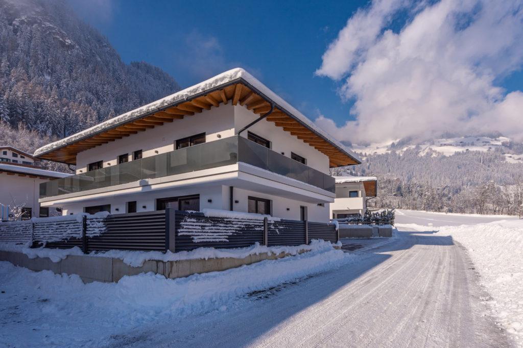 Winter Haus Straße